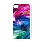 Water Paint iPhone 4 Case (White)