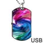 Water Paint Dog Tag USB Flash (One Side)