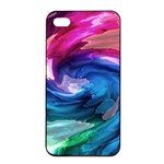 Water Paint iPhone 4/4s Seamless Case (Black)