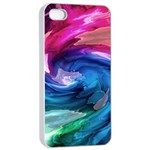 Water Paint iPhone 4/4s Seamless Case (White)