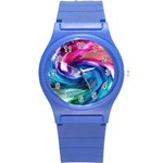 Water Paint Round Plastic Sport Watch (S)