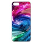 Water Paint Apple Seamless iPhone 5 Case (Clear)