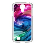Water Paint Samsung GALAXY S4 I9500/ I9505 Case (White)