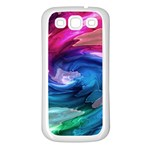 Water Paint Samsung Galaxy S3 Back Case (White)