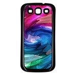 Water Paint Samsung Galaxy S3 Back Case (Black)