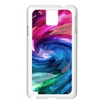 Water Paint Samsung Galaxy Note 3 N9005 Case (White)