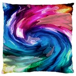 Water Paint Large Flano Cushion Case (Two Sides)
