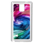 Water Paint Samsung Galaxy Note 4 Case (White)