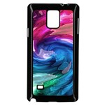 Water Paint Samsung Galaxy Note 4 Case (Black)