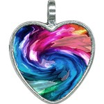 Water Paint Heart Necklace