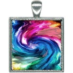 Water Paint Square Necklace