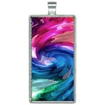 Water Paint Rectangle Necklace