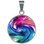 Water Paint 25mm Round Necklace