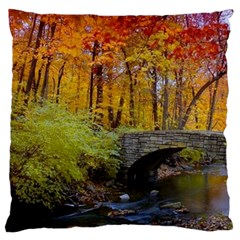 Stone Country Bridge Large Flano Cushion Case (One Side) from ArtsNow.com Front