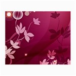 Pink Flower Art Small Glasses Cloth