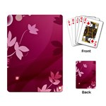 Pink Flower Art Playing Cards Single Design