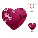 Pink Flower Art Playing Cards (Heart)
