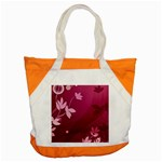Pink Flower Art Accent Tote Bag