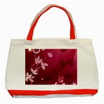 Pink Flower Art Classic Tote Bag (Red)