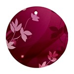 Pink Flower Art Round Ornament (Two Sides)