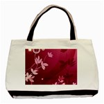 Pink Flower Art Basic Tote Bag (Two Sides)