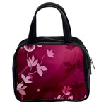 Pink Flower Art Classic Handbag (Two Sides)
