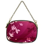 Pink Flower Art Chain Purse (One Side)