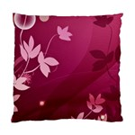 Pink Flower Art Standard Cushion Case (Two Sides)