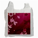 Pink Flower Art Recycle Bag (One Side)