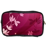 Pink Flower Art Toiletries Bag (Two Sides)