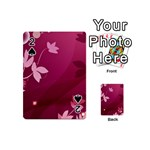 Pink Flower Art Playing Cards 54 (Mini)