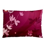 Pink Flower Art Pillow Case (Two Sides)