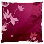 Pink Flower Art Large Cushion Case (Two Sides)