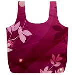 Pink Flower Art Full Print Recycle Bag (XL)