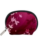 Pink Flower Art Accessory Pouch (Small)