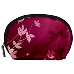 Pink Flower Art Accessory Pouch (Large)