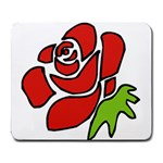 Artistic Red Rose Large Mousepad