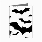 Deathrock Bats Mini Greeting Card