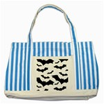 Deathrock Bats Striped Blue Tote Bag