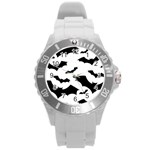 Deathrock Bats Round Plastic Sport Watch (L)