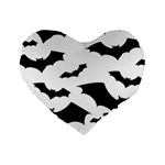 Deathrock Bats Standard 16  Premium Heart Shape Cushion