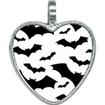 Deathrock Bats Heart Necklace