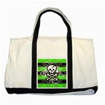 Deathrock Skull Two Tone Tote Bag