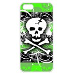 Deathrock Skull iPhone 5 Seamless Case (White)