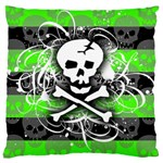Deathrock Skull Large Flano Cushion Case (Two Sides)