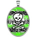 Deathrock Skull Oval Necklace