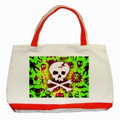Deathrock Skull & Crossbones Classic Tote Bag (Red) from ArtsNow.com Front