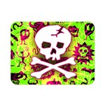 Deathrock Skull & Crossbones Double Sided Flano Blanket (Mini) from ArtsNow.com 35 x27  Blanket Back