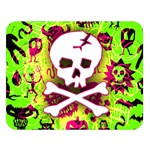 Deathrock Skull & Crossbones Double Sided Flano Blanket (Large) from ArtsNow.com 80 x60  Blanket Front
