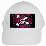 Girly Skull & Crossbones White Cap